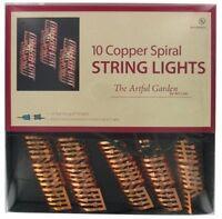 String of 10 Copper Spirals Patio Lights