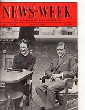 1937 Newsweek May 22 - Duke of Windsor and Wallis Simpson; The Mormons
