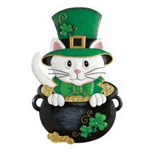 Collections Etc St. Patrick's Day Cat Door Decoration