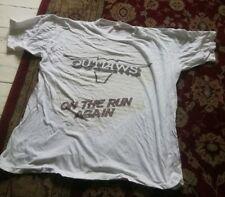 Outlaws On The Run Again Reading Festival 1986 tour T Shirt rare L (Skynyrd)