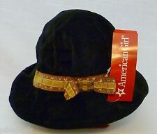 Girls Hat by American Girl Rebecca's Black Velveteen XS/S Cotton / Nylon Lining