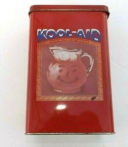 Vintage B4267 Kool Aid Tin Canister Metal Advertising Memorabilia Collectible UK