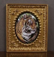 """FRAMED  FIRED  PORCELAIN  PICTURE ~ /"""" Angel /"""" ~Dollhouse ~ 1:12 scale ~ Room Box"""