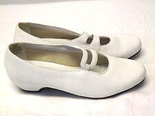 Beacon Women's Shoes, Size 6 M, Wedding White Pumps, Faux Leather Heels