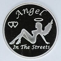 Angel in the Streets Devil in Sheets 999 Silver 1 oz Art Medal Round ounce JD940
