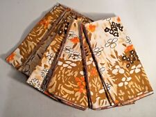 VGU AUTUMN Abstract FLORAL Print Dinner Napkins Set of 6 16 IN SQ