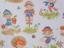Vintage J Manes Fabric Child Toddler Juvenile Beach Bike Fishing Cotton