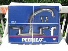 Peerless Satin Nickel Kitchen Faucet Set Model P9574-SN With Side Sprayer~New