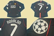 manchester united 2007 2008 shirt jersey ronaldo long sleeve champions black