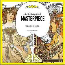Masterpiece Art Coloring Book For Adult Anti Stress Art Therapy 1