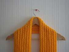 Long hand knitted scarf (colour available: mustard, yellow, red, green, white)