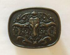 Vintage Brass Steer Belt Buckle