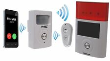 Battery Powered 3G GSM PIR ALLARME CON WIRELESS SIRENA ESTERNA (3G ultrapir)