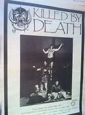 """MOTORHEAD - KILLED BY DEATH 7"""" 12"""" RELEASE - FULL PAGE ADVERT small poster LEMMY"""