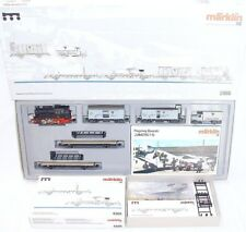 Marklin HO 1:87 WWII German Luftwaffe LOCOMOTIVE 2x JUNKERS AIRPLANE WAGON Set!