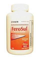 Ferrous Sulfate 325 mg Iron Tabs (Generic Feosol) 1000 Red Tablets Exp 08/20 NEW