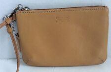 AUTHENTIC COACH Camel Leather Wristlet