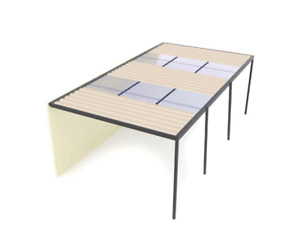 Carports/Pergolas 9x4m Polycarbonate/Colorbond Roofing