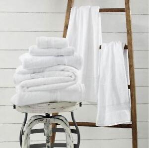 1888 Mills Sweet South White Bath Towel - Choose Size: USA Made, Woven, Grown