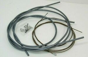 Genuine Shimano Dura-Ace Brake Cable & Housing Kit,BC-9000,Front & Rear,Gray,New