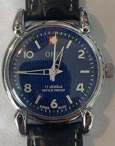 Men's ORIS Mechanical Hand Winding  Analog Swiss Watch. Cleaned And New Band