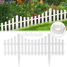 24/48 Pack Garden Fence Border Plastic Fencing Pannels Landscape Edging Yard