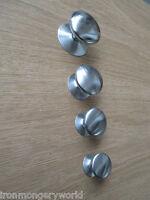 SATIN CHROME VICTORIAN STYLE  CABINET DOOR CUPBOARD WARDROBE DRAWER KNOBS