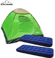 Zaltana lta3person Dome Tent with 2pcs Single Size Air Bed (3PT+AMSX2)