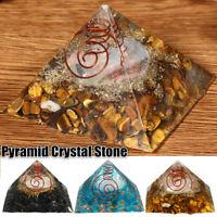 Natural Opal Orgone Pyramid Orgonite Healing Quartz Crystal Gemstones Stones