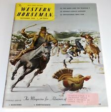 November 1958 WESTERN HORSEMAN Magazine— Don Smith Thanksgiving Cover