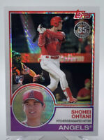 Shohei Ohtani 2018 Topps Silver Pack 1983 Chrome Prism Refractor Rookie HOT QTY