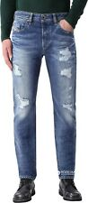 New Men 220$ Diesel Jeans BUSTER 0848I Pants Blue Trousers 36 38 40 Distressed