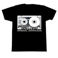Hip Hop Classic Rock Old School Cassette Tape Music Black T-Shirt