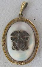 WW2 SWEETHEART LOCKET 1/20 10k Gold Mother Of Pearl US ARMY Original Pendant