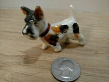 Vintage Fox Terrier Miniature Small Dog Figurine Japan