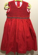 Will'beth smocked red dress in size 3T