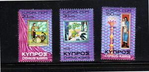 CYPRUS #436-438  1975  EUROPA   MINT  VF NH  O.G