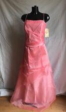 Partito Prom Evening Cocktail Dress Size XXL PESCA / ROSA CON DOLLARO