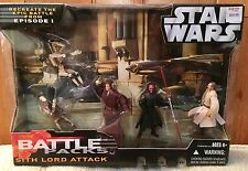 Sith Lord Attack Battle Pack Figure 5 Pack The Phantom Menace Maul Star Wars Mib