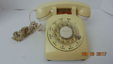 Vintage Bell System Western Electric rotary desk phone beige w/ cord