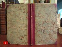 Bookkeeping American System 1836 Eagle chart James Bennett fine leather book