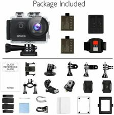 AKASO Brave 6 WiFi 4K HD 20MP Action Camera EIS 30m Underwater Camcorder Cam US