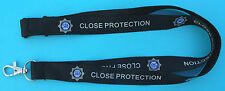 SIA Close Protection black neck lanyard with logo
