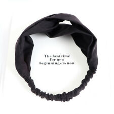 Women Colorful Elastic Turban Head Wrap Headband Twisted Knotted Hair Band