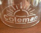 Coleman Pyrex Sandblast glass sunrise globe (1931-1933)