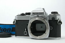 [Light seals replaced] Nikon FE SLR Film Camera Body Only Silver From JAPAN D29
