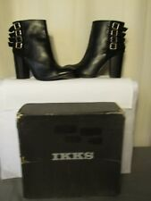 boots/bottines ikks cuir et daim noir pointure 41