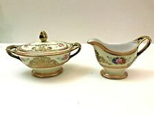Noritake, Japan Gold Decorated Creamer & Covered Sugar:   1920's