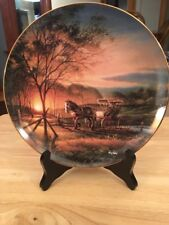 """Terry Redlin """"Morning Rounds"""" Plate - 8 1/4"""""""