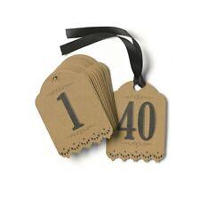Hortense B. Hewitt Table Numbers, 1 to 40, Vintage Kraft